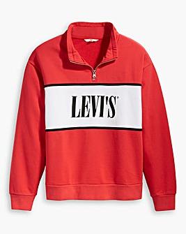Levi's Half Zip Logo Sweatshirt