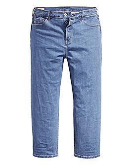 Levi's 501 Crop Stonewash Jeans