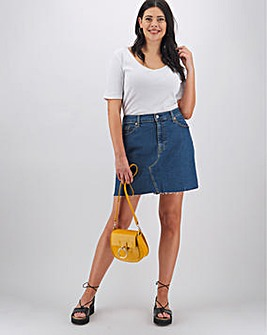 Levi's Deconstructed Mid Wash Denim Mini Skirt
