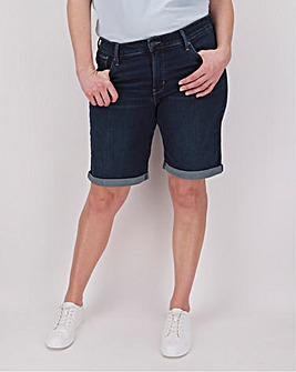 Levi's Shaping Dark Wash Bermuda Long Short