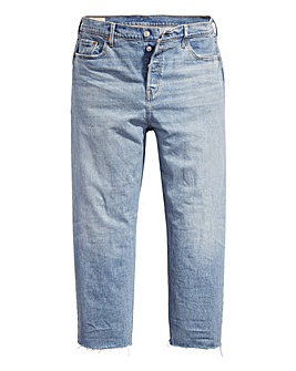 Levi's 501 Lightwash Crop Jeans