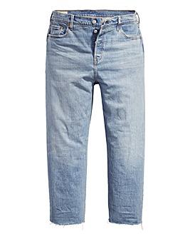 Levi's 501 Lightwash Crop Jeans