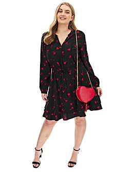 Oasis Curve Rose Bud Shirt Dress