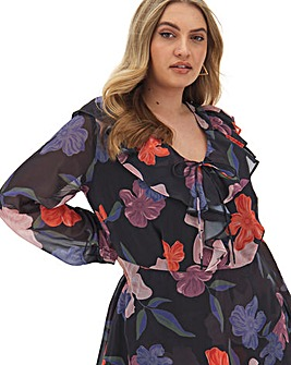 Lovedrobe Floral Wrap Blouse