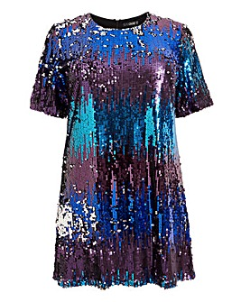 Quiz Ombre Sequin Tunic Dress