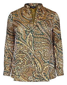 Live Unlimited Paisley Peasant Blouse