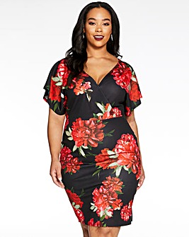 Quiz Floral Bodycon Dress