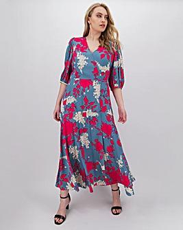 Calvin Klein Floral 3/4 Sleeve Maxi