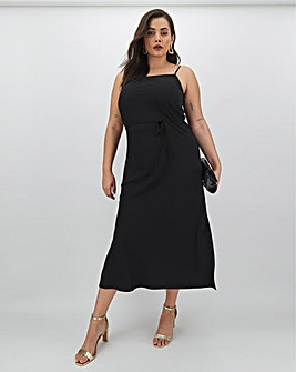 Calvin Klein Black Cami Midi Dress