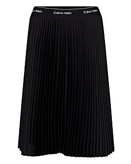 Calvin Klein Pleat Midi Elastic Skirt
