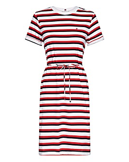 Tommy Hilfiger Angela Striped Midi Dress