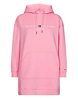 Tommy Hilfiger Pink Logo Hoodie Dress