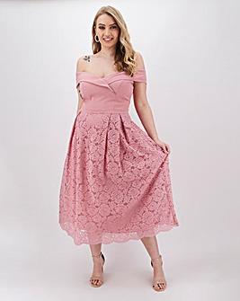Oasis Isabella Bardot Top Lace Dress
