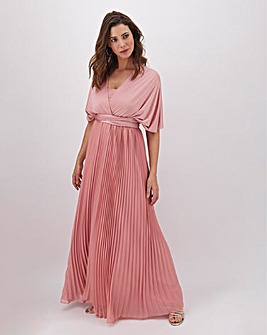 Oasis Penny Wear It Your Way Pleated Maxi