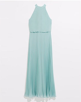 Oasis Megan High Neck Pleat Maxi
