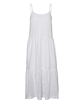 Vero Moda Broiderie Tiered Cami Dress