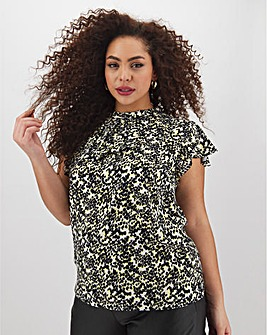 Oasis Smudge Print Shell Top