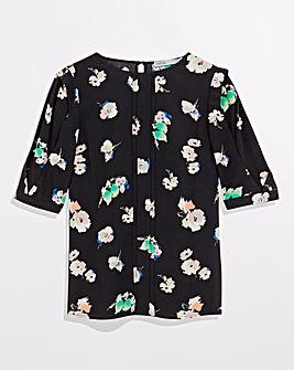 Oasis Pop Floral Sleeve Top