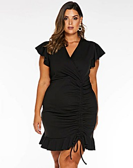 Quiz Ruched Bodycon Dress