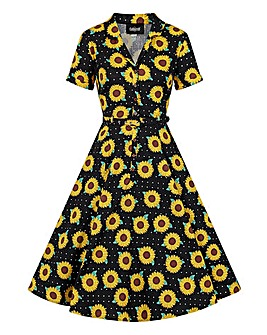 Collectif Sunflower Swing Dress