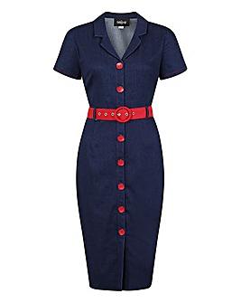 Collectif Maura Denim Pencil Dress
