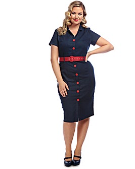 Collectif Maura Denim Pencil Dress