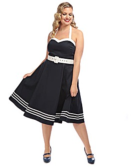 Collectif Georgie Nautical Swing Dress