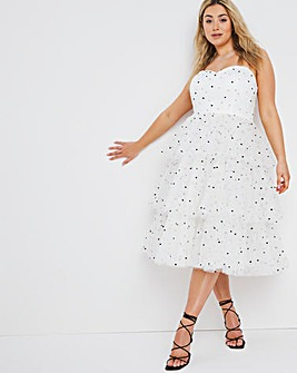 Dolly & Delicious Spot Midi Dress
