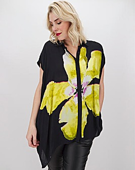 Religion Bold Flower Print Blouse