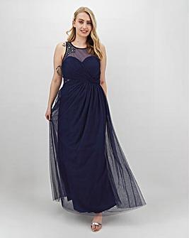 Little Mistress Embellished Detail Maxi Dress