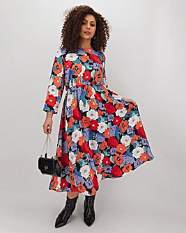Glamorous Floral Fit And Flare Dress