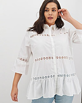 Glamorous Ladder Trim Swing Shirt