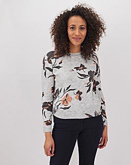 Oasis Floral Fine Knit Jumper