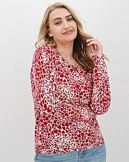 Oasis Heart Print Melissa Knit