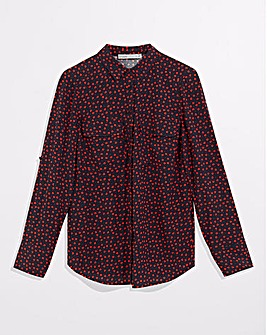 Oasis Heart Print Viscose Blouse