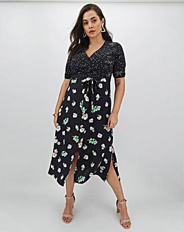 Oasis Merci Floral Patched Midi Dress