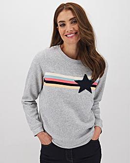Oasis Stripe Star Loungewear Sweater