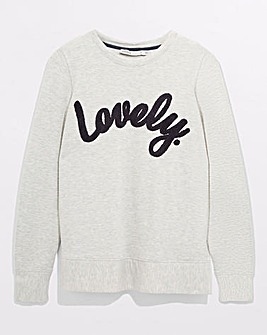 Oasis Lovely Slogan Sweatshirt