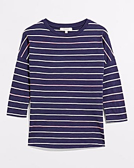 Oasis Supersoft Stripe Drop Sleeve Top