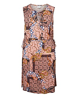 Junarose Printed Sleeveless above Knee Dress