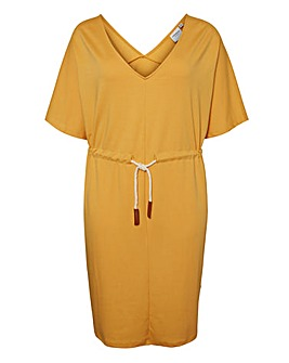 Junarose Dress With Contrast Tie Waist