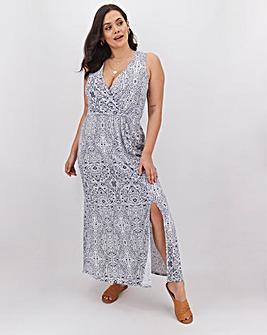 Junarose Sleeveless Wrap Maxi Dress