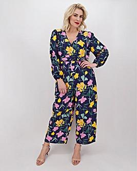Lovedrobe Floral Print Wrap Culotte Jumpsuit