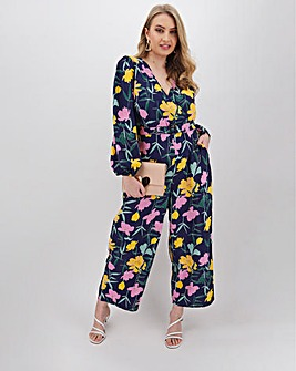 Lovedrobe Floral Print Culotte Jumpsuit