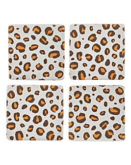 Sass & Belle Leopard Coasters