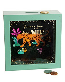 Sass & Belle Leopard Money Box