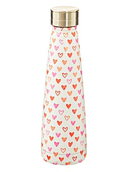 Sass & Belle Hearts Metal Water bottle