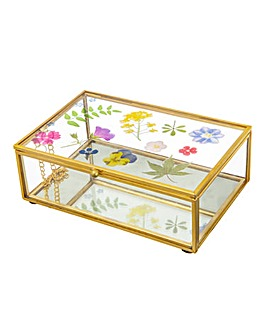 Sass & Belle Flowers Glass Jewellery Box