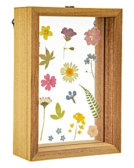 Pressed Flowers Floating Frame
