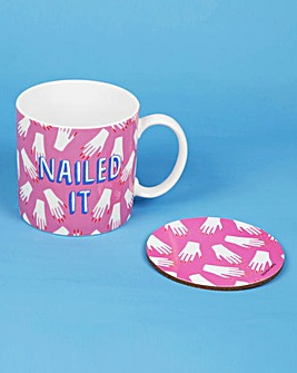 Nailed It Mug & Coaster Set